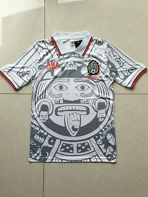 e5f5f2b75 1998 MEXICO WORLD Cup Away Retro Vintage Soccer Jersey XL Size ...