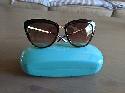 2d3cb51f02ef3 Kate Spade Cissy Cat Eye Sunglasses Tortoise and Gold with Original Case!