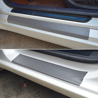 4* Car Accessories Door Sill Scuff Welcome Pedal Protect 3D Carbon Fiber Sticker