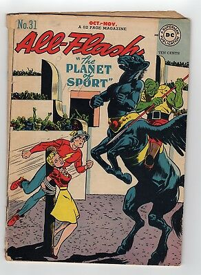 All-Flash #31 1947 DC Comics The Planet Of Sport  Golden Age Comic
