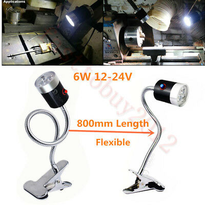 6W Flexible Clamp Base CNC Machine LED Lamp 800mm Working Light 6500K Waterproof