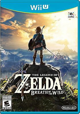 Legend of Zelda Breath of the Wild Wii U 2017 Fast Free Ship