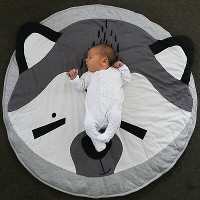 Baby Crawling Rug Kids Children Game Play Mat Soft Cotton Carpet Blanket Playmat