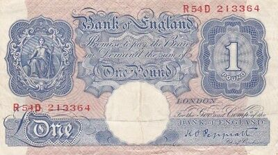 1948 Great Britain 1 Pound Note,, Pick 367a