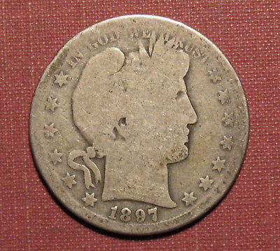 1897-S Barber Half - Nice Starter, Scarce San Francisco Semi-Key! Please View