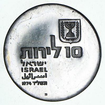 Roughly Size of Silver Dollar - 1974 Israel 10 Lirot - World Silver 25.9g *645