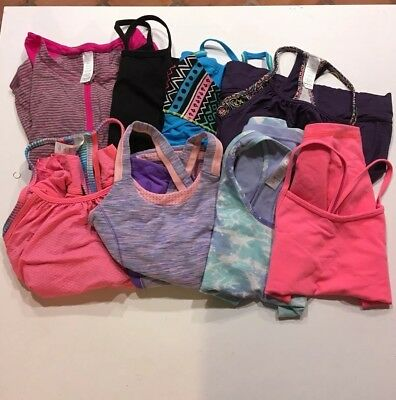 Ivivva lot all tops Size 8 By Lululemon 8 tops Dance Athletic Great Condition