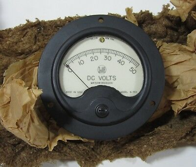 Dejur DC Gauge Model S-310 Volts 0-50 Panel Meter with Box Vintage