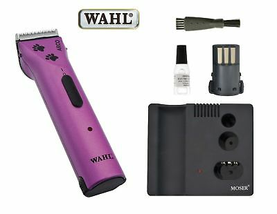 WAHL MOSER ARCO PINK CLIPPERS Special Edition 2 Batteries Dog Trimmer Cordless