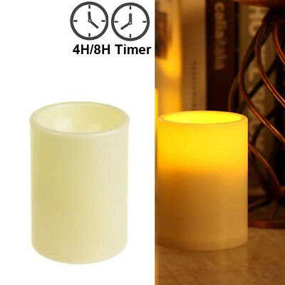 Flameless LED Candles Pillar Candle Hurricane Lantern Tealight with 4/8H Timer