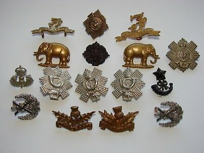 British Collar Badge Lot, Mixed Eras, Scottish mainly