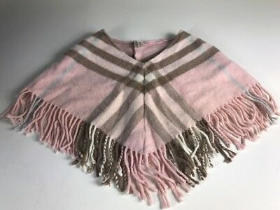 Burberry Girl Small Toddler Pink Wool Poncho- 100% Authentic
