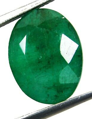 Natural 8.00 Cts. Untreated Oval Cut Colombian Loose Emerald Gemstone. GS5504
