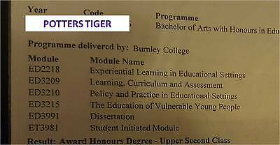 Foundation Degree & BA Hons Education & Professional Studies Assignments 2:1