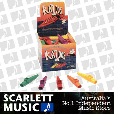 2 X SCOTTYS Kazoo Plastic Kids Music Mixed Colours *New* Great for Choirs