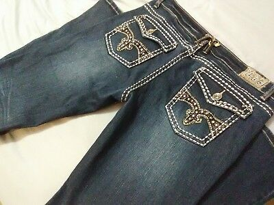 La Idol Size 15 Bootcut Studded Flat Pocket Jeans Great Preowned Condition