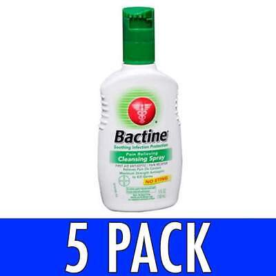 Bactine Pain Relieving Cleansing Spray, 5 oz, 5 Pack