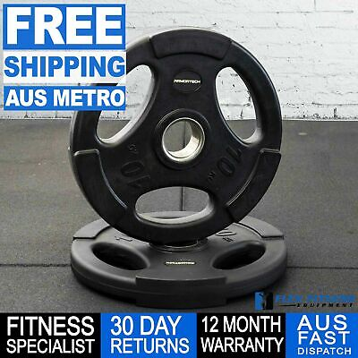Olympic Tri Grip Gym Rubber Weight Plate 1.25-20kg Gym Weightlifting Exercises