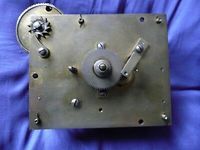Old Single Fusee Wall Clock Movement.