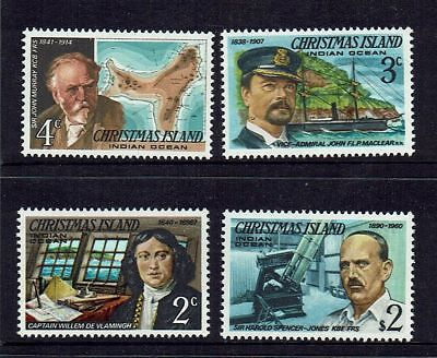 Christmas  Island   1977 Famous Visitors   ...   4 Stamps      Muh