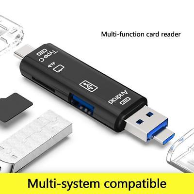 OTG Multi-Function Card Reader Micro-USB 3.1 Type-C TF Adapter for Android PC