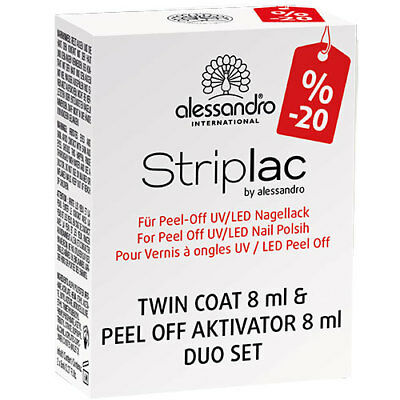 Alessandro International: StripLac Set - Twin Coat Base & Top + Peel Off Aktivat