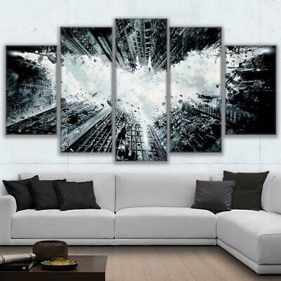 Modern Canvas Print Painting 5 Panel Abstract Canvas Wall Art Picture Framed ...