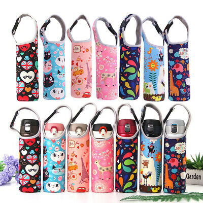 Water Bottle Cup Holder Sleeve Neoprene Insulated Vacuum Mug Cover Carrier