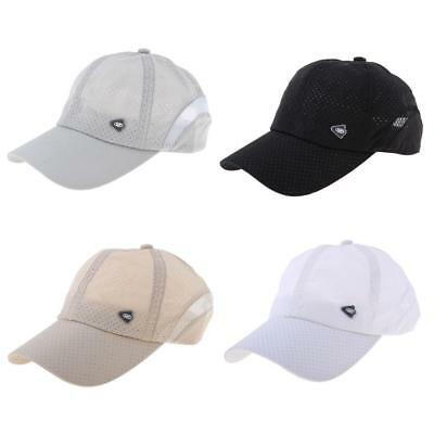 Fashion Mens Breathable Quick-drying Baseball Beach Cap Snapback Hat Sun Cap