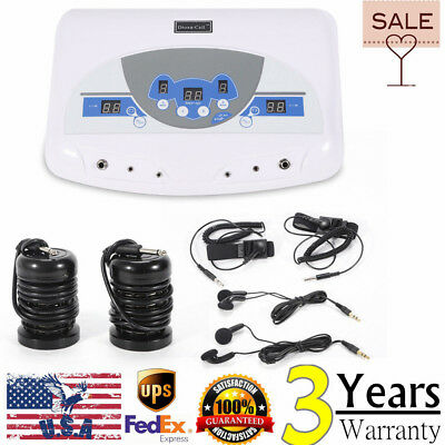 Dual Ionic Detox Ion Foot Spa Bath Ion Cell Cleanse Machine +Infrared Wrist band
