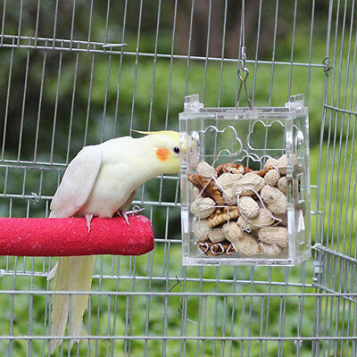 Bird Cage Feeder - Hanging Forage Toys for Parrot Chewing Pet Treat Hunt
