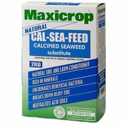Maxicrop Natural Organic Cal-Sea-Feed Meal - Calcified Seaweed Substitute 2kg
