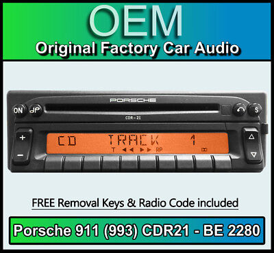 Porsche 911 (993) CDR21 Radio Becker BE 2280 CD player stereo code Removal Keys