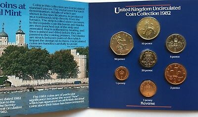 Gb Coin Set 1982 Bunc