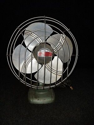 Antique Dominion Oscillating Table Fan - Style No. 2010 - Cast Iron Base