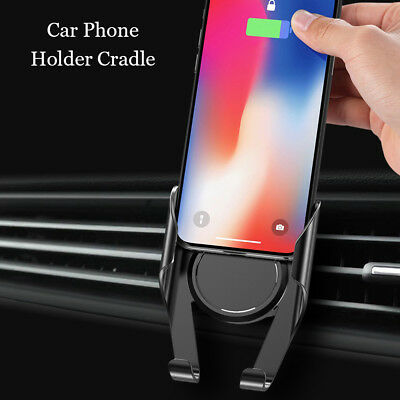 Universal Air Vent Car Phone Holder Stand Mount For Samsung S8 S9 iPhone 8 X