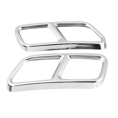 Stainless Steel Car Exhaust Tip Tail Pipe Cover Trim for Mercedes Benz S R Class