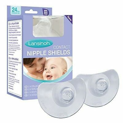 Lansinoh Contact Nipple Shields with Case (24mm Large)