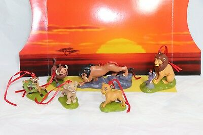 Disney Authentic The Lion King Christmas Ornaments 6pc Set Simba Scar Pumbaa