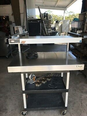 Knight Manufacturing Heated Tray with Overhead Heat and Lights