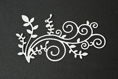 10 x Large Leafy Flourish Die Cuts Great For Card Making & Scrapbooking