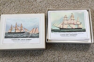 Vintage Pan Am American Clipper Ships Notecards & Envelopes With Box Airline