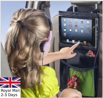 Car Travel Ipad Tablet Storage Bag Back Seat Tidy Organiser Multi Pocket Holder