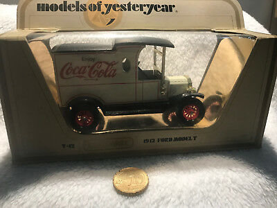 Sammlerstück - Matchbox Models of Yesteryear Ford Model T 1912 Coca Cola