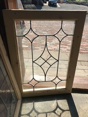 SG 2364 antique beveled and flat glass landing window 20 x 28
