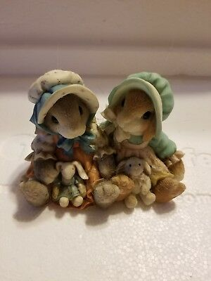 1998~Enesco~My Blushing Bunnies~Blessings Multiply When Shared~#470678