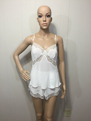 Vanity Fair Modern Romance Lace Trimmed 2 Pc Camisole Set Top 34 Panty Small NWT