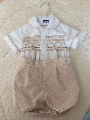 Boys Smocked Suit