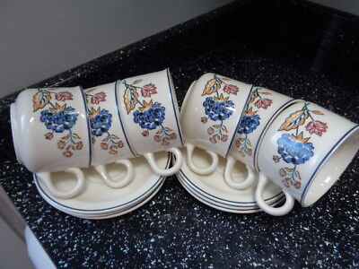 Boots Camargue Cups And Saucers X 6
