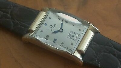 Fabulous 14Kt Art Deco Omega Dress Watch Circa 1941-Free Shipping